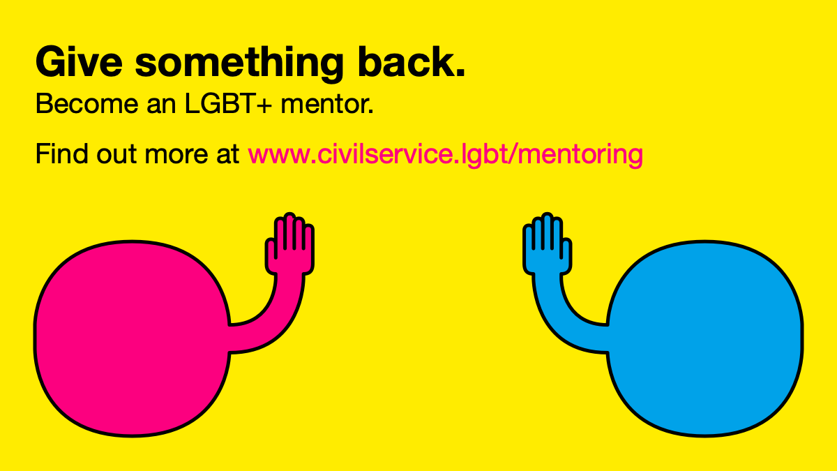 Give something back. Become an LGBT+ mentor.