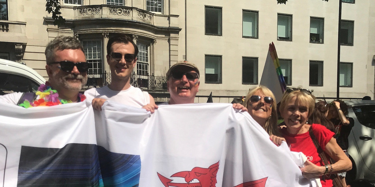 Jack with the PRISM network, and DCMS Permanent Secretary Sue Owen, at Pride in London 2018